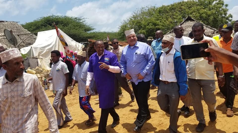 House to House inspection tour of the mega 'Mai Mekoni ' Water Project in Ndau village, Lamu East