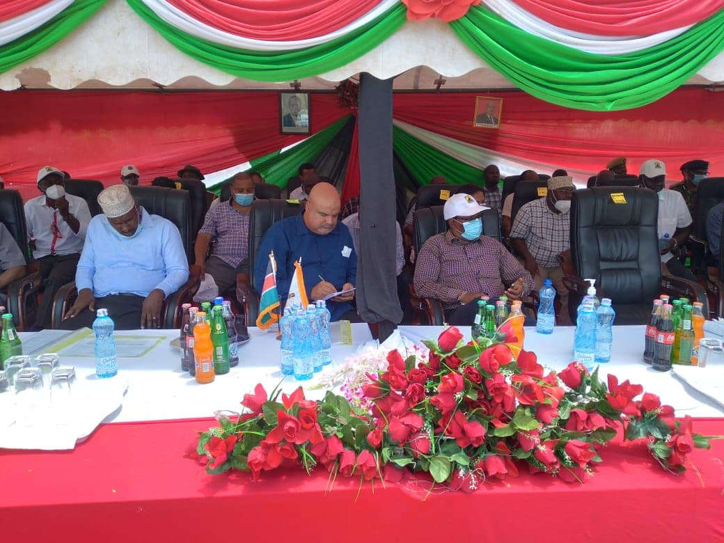 Governor Fahim Twaha and Lamu County Leadership is hosting a delegation of Principal Secretaries and other senior Government officials led by Principal Secretary State Department for Interior, Dr.Karanja Kibicho and the Principal Secretary Department of Transport, Mr Solomon Kitungu.