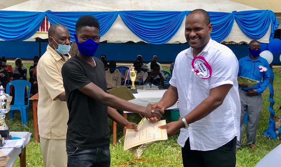Deputy Governor Lamu County Hon. Abdul Hakim Mbwana has today presided over Mpeketoni Boys High School prize giving day.