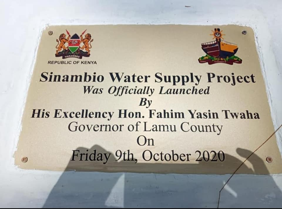 ONGOING: SINAMBIO-MIRUJI WATER INFRASTRUCTURE ON COURSE