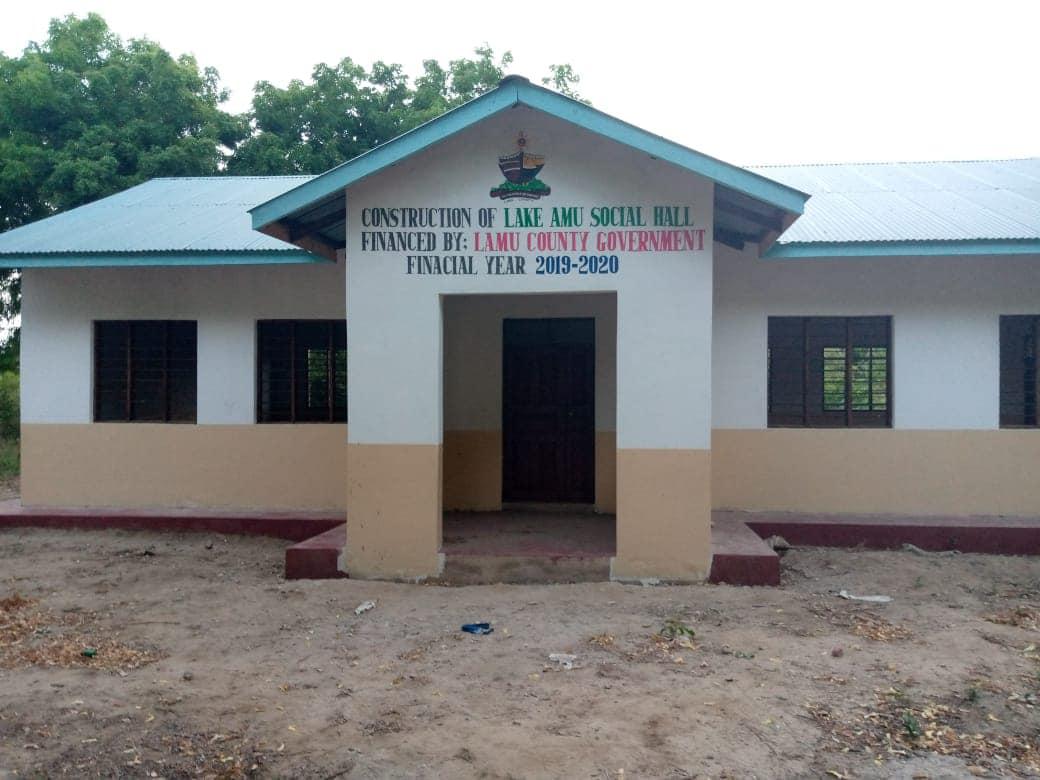 Completion of Lake Amu Social Hall in Bahari ward.