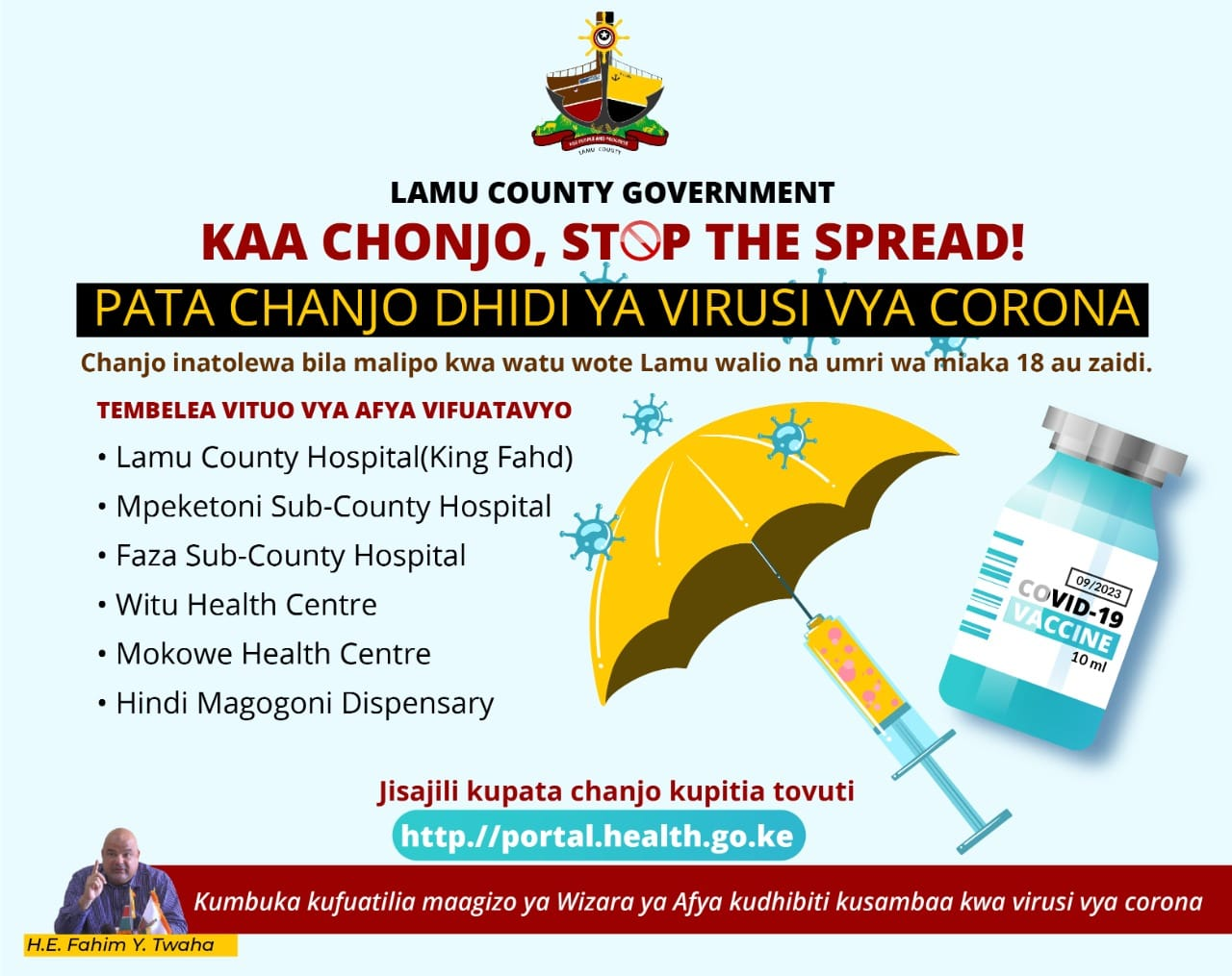 LAMU COUNTY RESIDENTS URGED TO GO FOR COVID-19 JAB